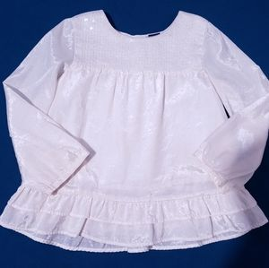 2T Baby GAP Cream Blouse with Sequins Satiny